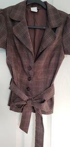 Cute brown short sleeve blazer